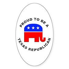 Texas Republican Pride Decal
