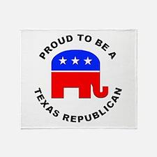 Texas Republican Pride Throw Blanket