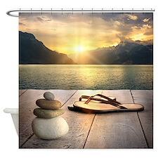 Zen Sunset Shower Curtain
