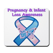 Pregnancy Infant Loss Awareness Ribbon Mousepad