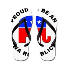 Iowa Republican Pride Flip Flops