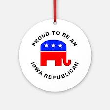 Iowa Republican Pride Ornament (Round)