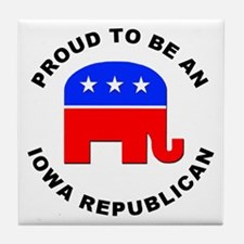 Iowa Republican Pride Tile Coaster