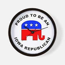 Iowa Republican Pride Wall Clock