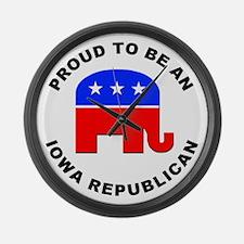 Iowa Republican Pride Large Wall Clock