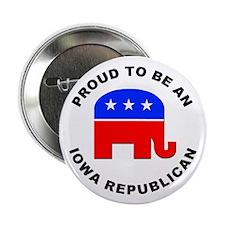 """Iowa Republican Pride 2.25"""" Button"""
