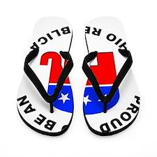 Ohio Republican Pride Flip Flops