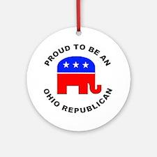 Ohio Republican Pride Ornament (Round)