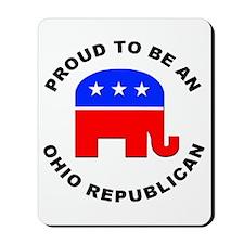 Ohio Republican Pride Mousepad