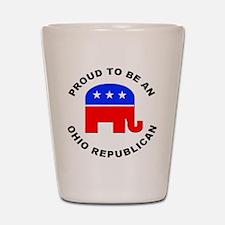 Ohio Republican Pride Shot Glass