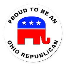 Ohio Republican Pride Round Car Magnet