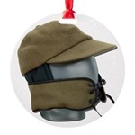 Wool Hat Face Guard Round Ornament