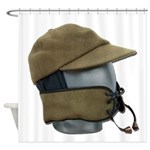 Wool Hat Face Guard Shower Curtain