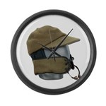 Wool Hat Face Guard Large Wall Clock