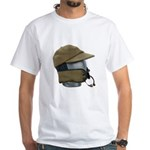 Wool Hat Face Guard White T-Shirt
