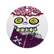 Book Zombie Ornament (Round)
