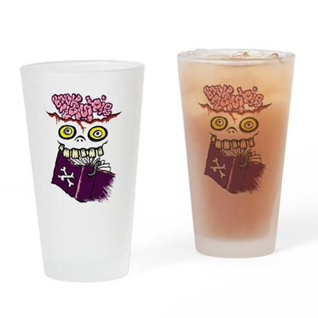 Book Zombie Drinking Glass