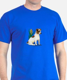 Jack Russell Terrier with Flower T-Shirt