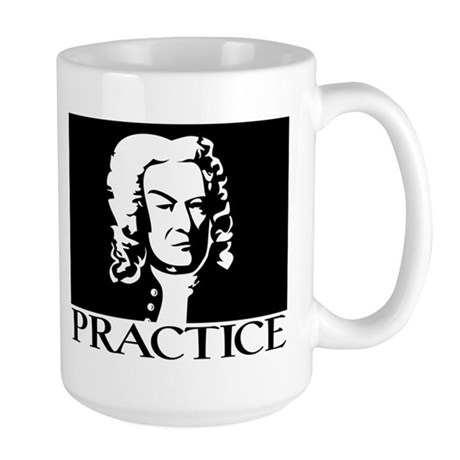 Bach/Practice Large Mug