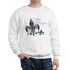 Mardi Gras Carnival Fleur de lis Sweatshirt