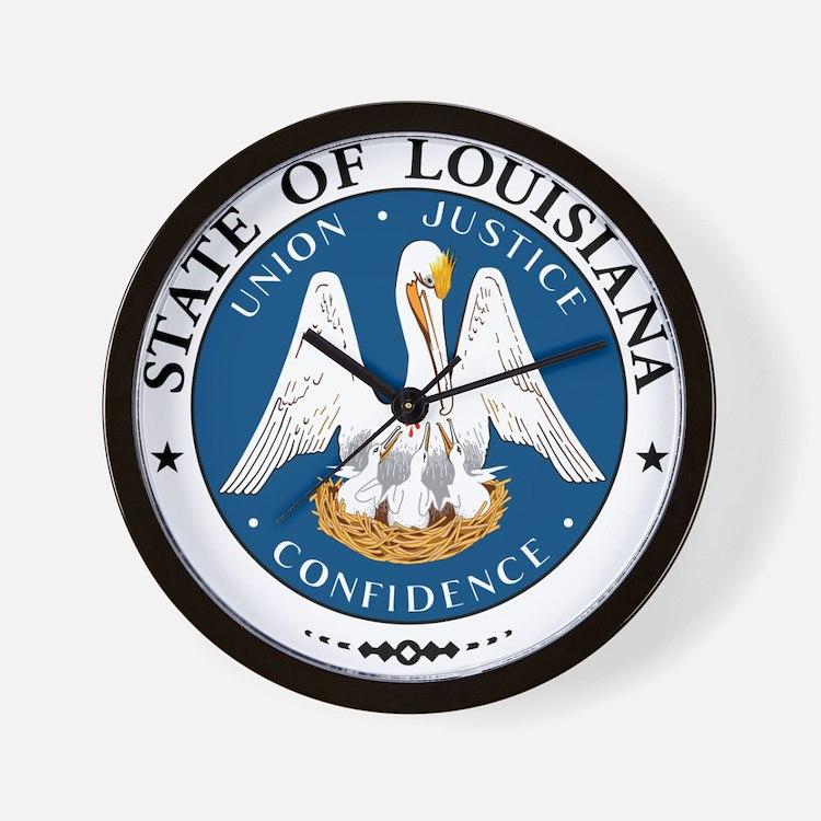 Louisiana State Seal Wall Clock