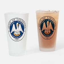 Louisiana State Seal Drinking Glass
