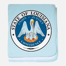 Louisiana State Seal baby blanket