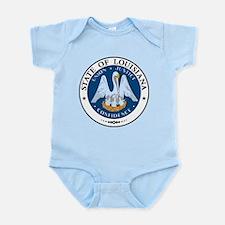 Louisiana State Seal Infant Bodysuit