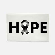 Black Ribbon Hope Rectangle Magnet