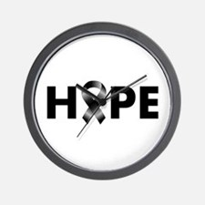 Black Ribbon Hope Wall Clock