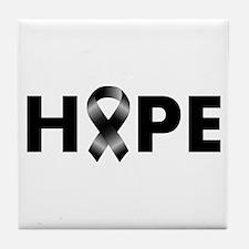 Black Ribbon Hope Tile Coaster