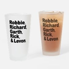 The Band Names Tribute Drinking Glass