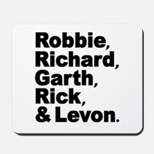 The Band Names Tribute Mousepad