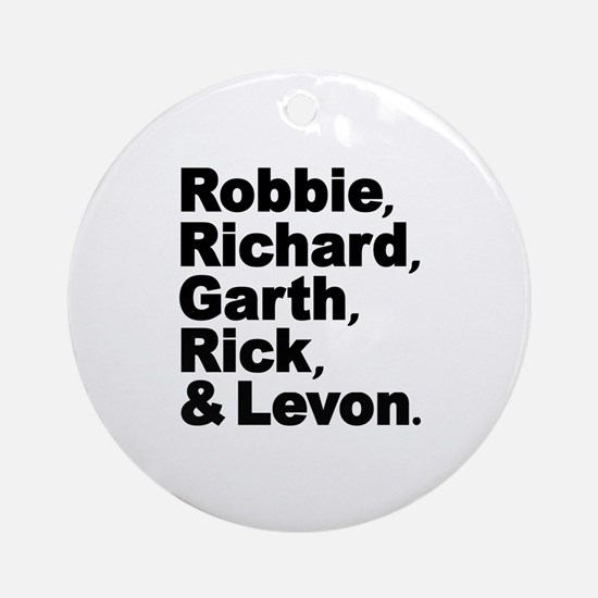 The Band Names Tribute Ornament (Round)