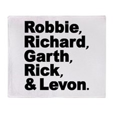 The Band Names Tribute Throw Blanket