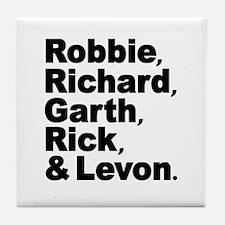 The Band Names Tribute Tile Coaster