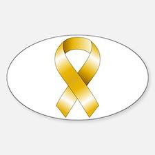 Gold Ribbon Decal