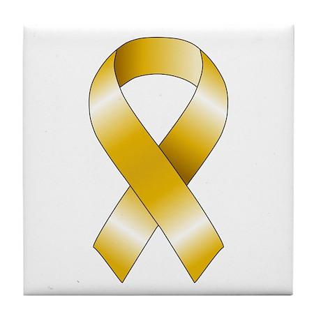 Gold Ribbon Tile Coaster