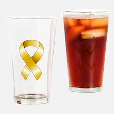 Gold Ribbon Drinking Glass