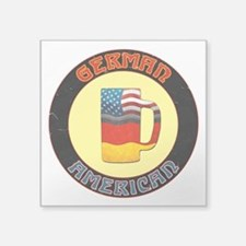 German American Beer Stein Square Sticker 3""