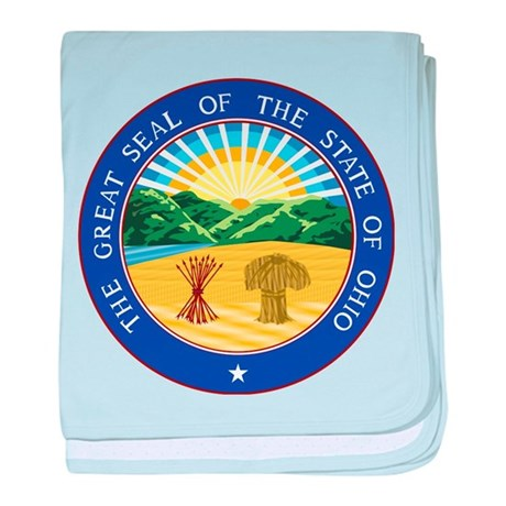 Ohio State Seal baby blanket