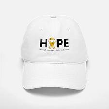 Gold Ribbon Hope Baseball Baseball Cap