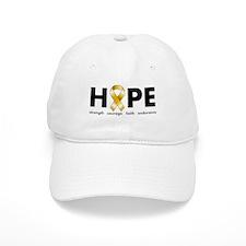 Gold Ribbon Hope Baseball Cap