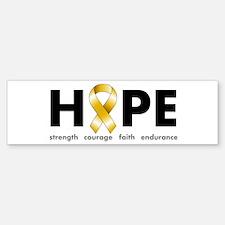 Gold Ribbon Hope Bumper Bumper Sticker