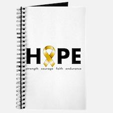 Gold Ribbon Hope Journal