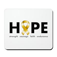 Gold Ribbon Hope Mousepad