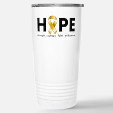 Gold Ribbon Hope Travel Mug