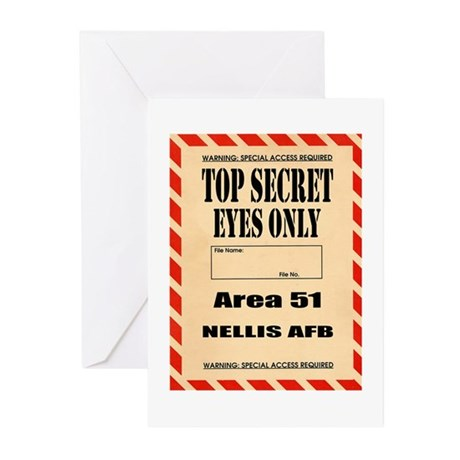 AREA51.png Greeting Cards (Pk of 10)