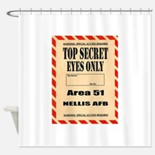 AREA51.png Shower Curtain