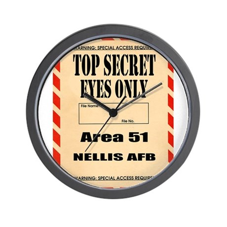 AREA51.png Wall Clock